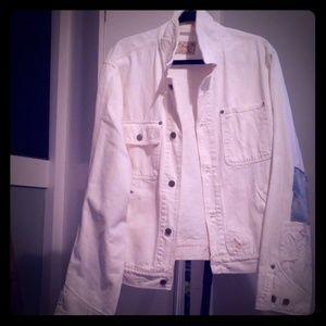 Polo Ralph Lauren white patch work denim jacket